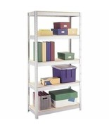 5 Shelf Metal Storage Rack Steel Shelving Adjustable Heavy Duty 36 x 16 ... - $53.36