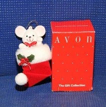 Avon Peek-a-Boo Mouse Christmas Ornament - See Pictures - $9.66