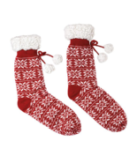 Avon Fair Isle Cozy Slipper Socks Adult Size - $19.80
