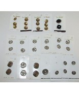Lot vintage buttons on cards metal la Mode JHB International Italy - $11.99