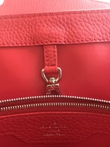 100% Authentic Louis Vuitton CAPUCINES MM Bag Red Taurillon Python image 9