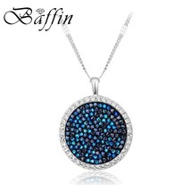 BAFFIN Original Crystals From SWAROVSKI Maxi Round Necklace Pendant For ... - $20.67