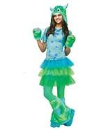 Teen Girls Monster Miss Dress Hood Gloves Leg Warmers 6 Pc Halloween Cos... - $34.65