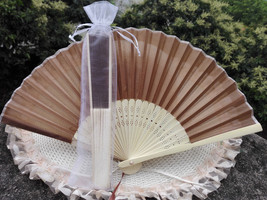 12Pcs/Lot 21cm Party Wedding Favors Gifts Coffee Wedding Bridal Silk Han... - $24.95