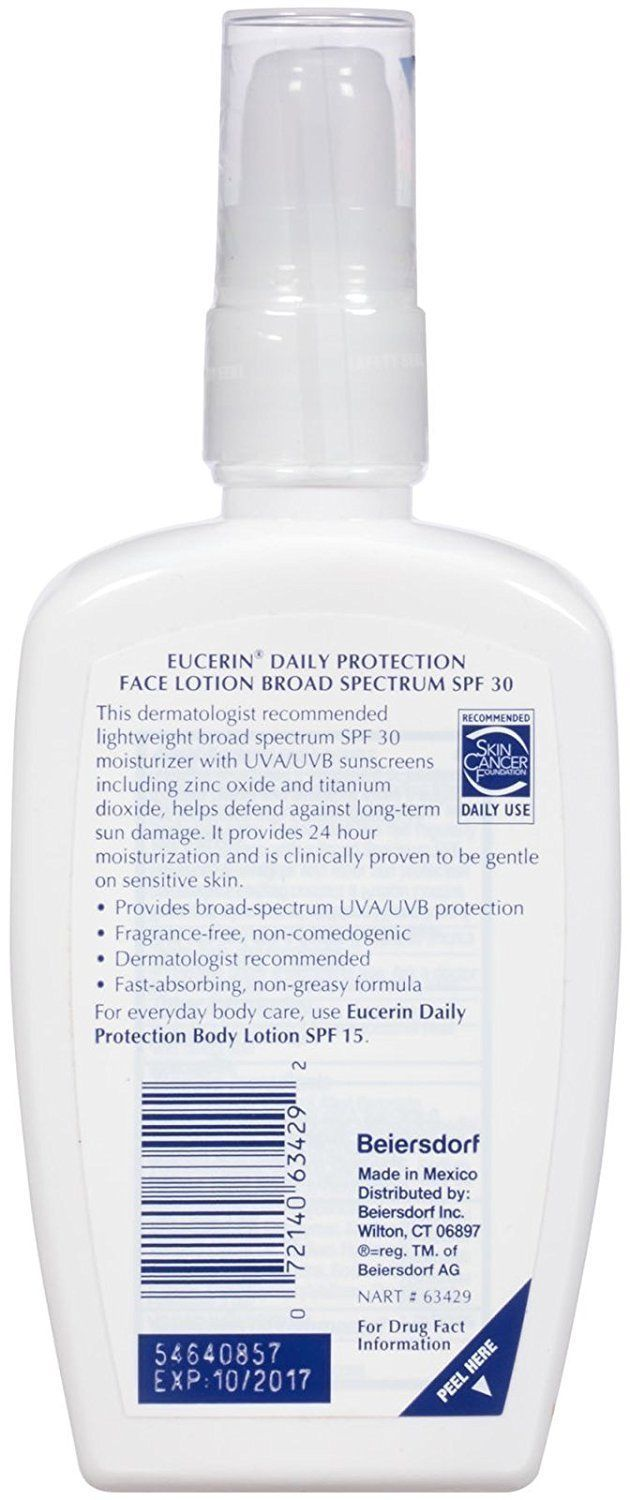 Eucerin Daily Protection Face Lotion SPF 30 4 oz image 2
