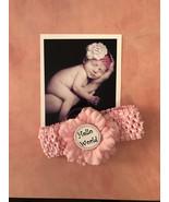 Monthly Milestones 12 Month Pink Headband Set w/ Flower for Newborn Baby... - $24.99