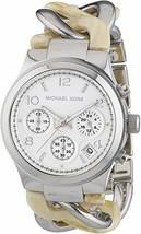 Michael Kors Women's Watch Ladies Steel Chain Bracelet Silver Dial MK4263 - $174.00