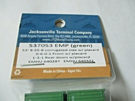 Jacksonville Terminal Company # 537053 EMP (GREEN) 53' Container  N-Scale image 2
