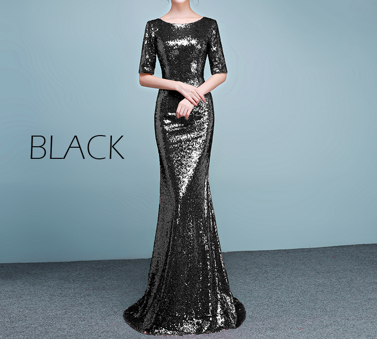 Blacksequindress
