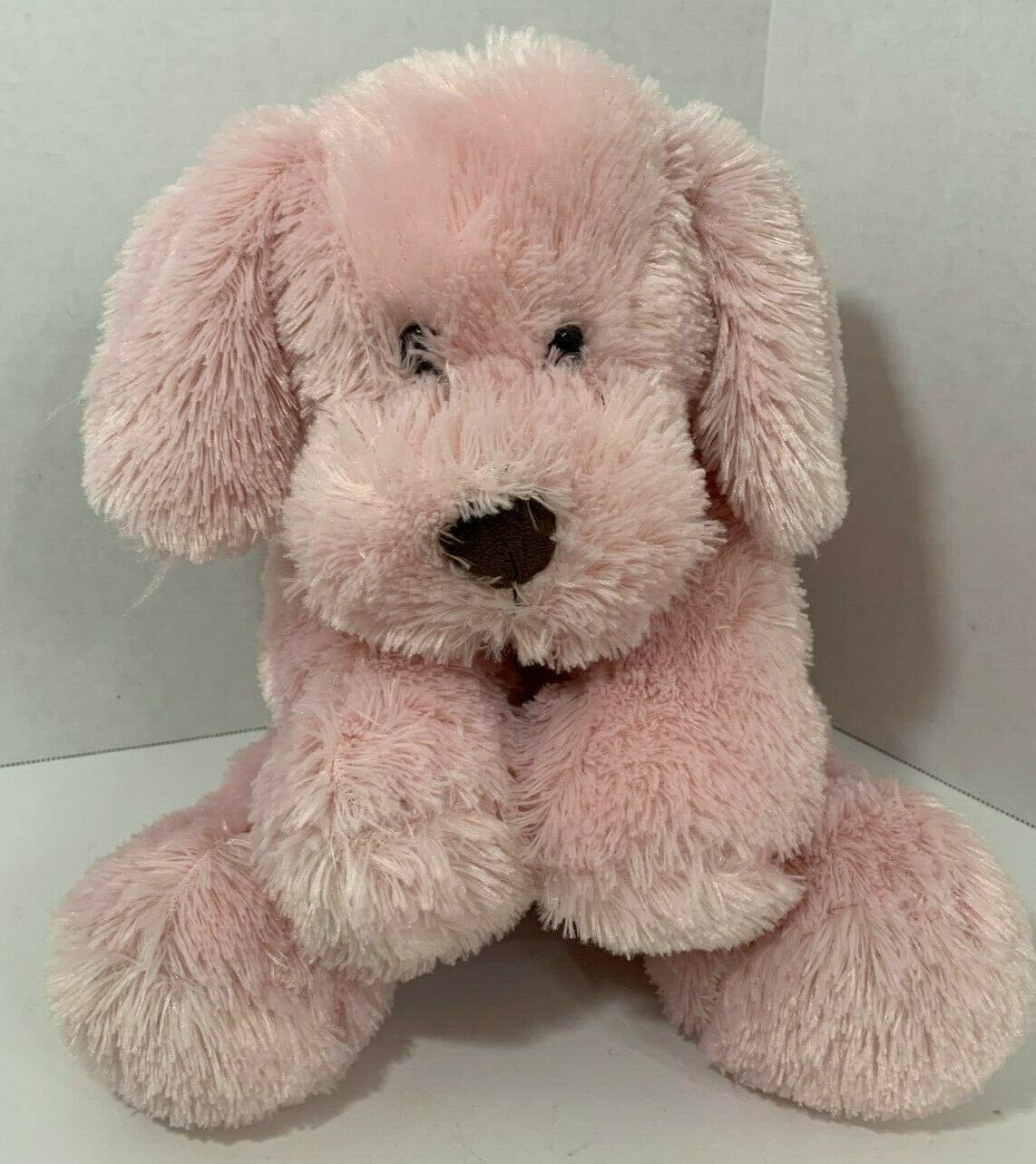 Primary image for Animal Adventure Pink Puppy Dog Plush lab 2015 stuffed animal brown nose