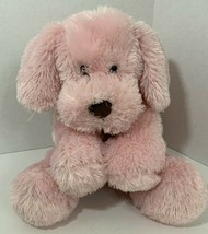 Animal Adventure Pink Puppy Dog Plush lab 2015 stuffed animal brown nose  - $14.84