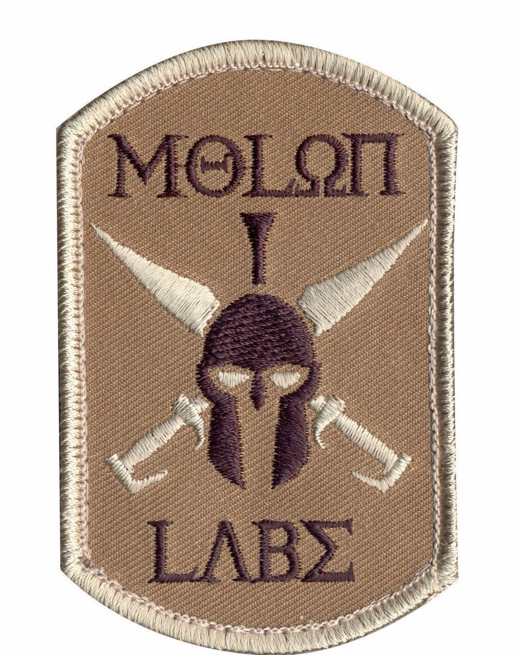 Primary image for MILITARY TACTICAL PATCH MOLON LABE HOOK & LOOP EMBROIDERED PATCH