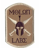 MILITARY TACTICAL PATCH MOLON LABE HOOK & LOOP EMBROIDERED PATCH - $15.33