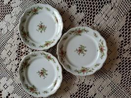 "Johann Haviland ~ Moss Rose ~ Set of 3 ~ 7.75"" Salad Plates ~ Bavaria Germany - $33.26"