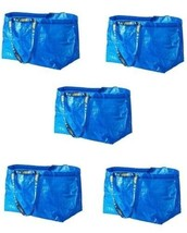 20 Ikea Frakta Shopping storage Bags, Large, Blue,  Brand New • STURDY! - $50.13
