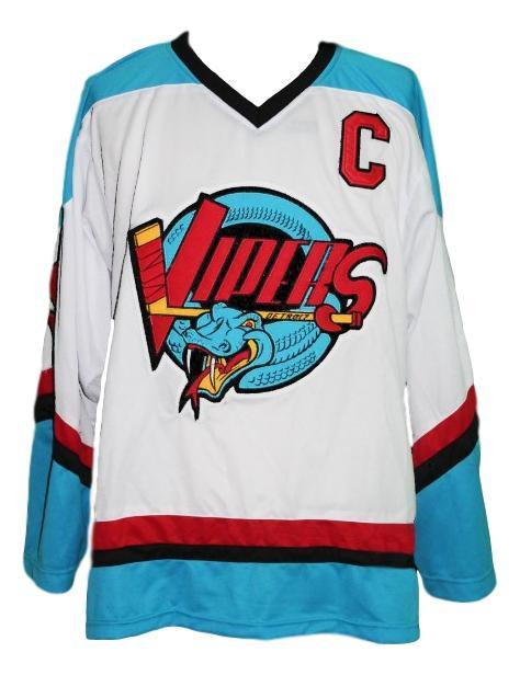 Custom Name # Detroit Vipers Retro Hockey Jersey New White Howe #9 Any Size