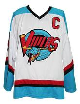 Gordie howe  9 detroit vipers retro hockey jersey white   1 thumb200