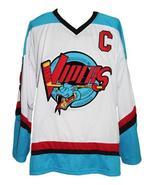 Custom Name # Detroit Vipers Retro Hockey Jersey New White Howe #9 Any Size - $54.99+