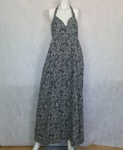 Joie Dress Floral Maxi Long Navy Blue White Sleeveless Halter Casual Size S - $49.99