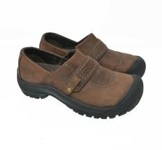 KEEN Women's Sz 5.5 EU 35.5 Brown Leather Slip On Sports Hiking Trail Flats - $40.99