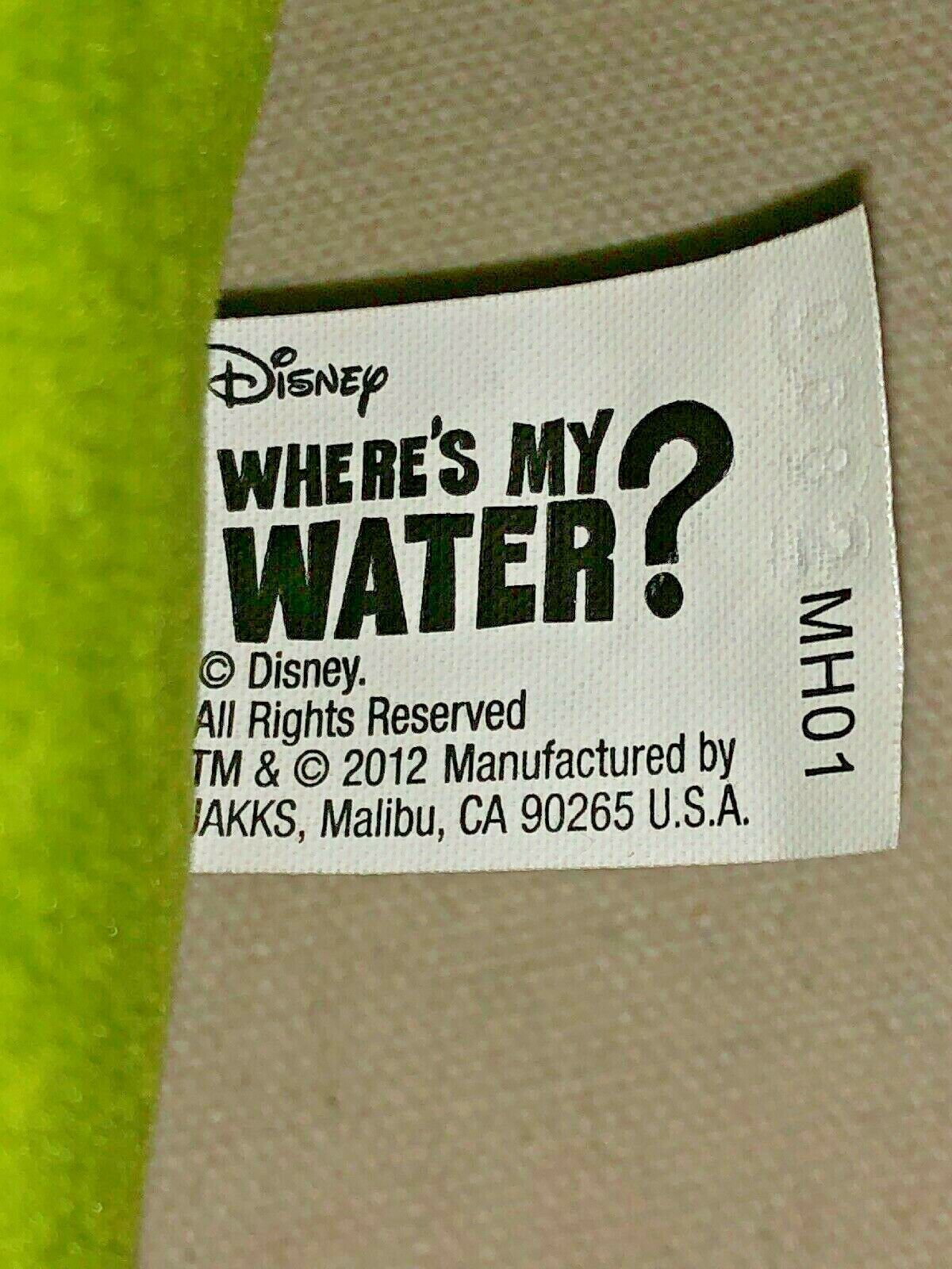 "Disney WHERES MY WATER Swampy 22"" LARGE Plush Doll Jakks 2012 image 7"