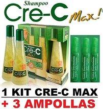 Cre-C shampoo (3 bottles) and 3 Ampollas Crecimiento - $46.99