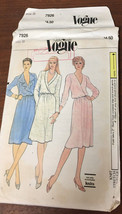 Vogue 7926 Loose Fitting Blouson Dress W/Wrap Bodice Size 8 Vintage Sew ... - $16.80