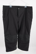 Lands End Women's Snow Pants Size 2X 20W-22W Black The Squall Ski Snowboard - $44.55