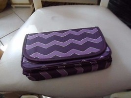 Purple trifold Travel HANGING ORGANIZER Jewelry Cosmetic - $14.50