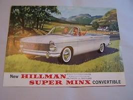 1963  HILLMAN  MINX  CONVERTIBLE OWNER SALES BROCHURE  - $34.99