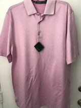 Bobby Jones Mens L Lilac Cotton Golf Polo Shirt NWT  - $21.23
