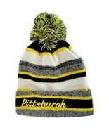 Pittsburgh 4-Color Embroidered Adult Size Winter Knit Pom Beanie Hat Gol... - $13.98