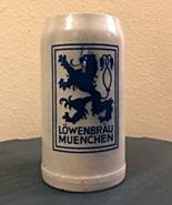 Vintage 1930's Style Lowenbrau Meunchen Large German Stoneware Beer Stein - $19.00