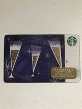 Starbucks Gift Card - NEW - CHAMPAGNE GLASSES TOAST NEW YEAR 2016 PARTY ... - $2.99