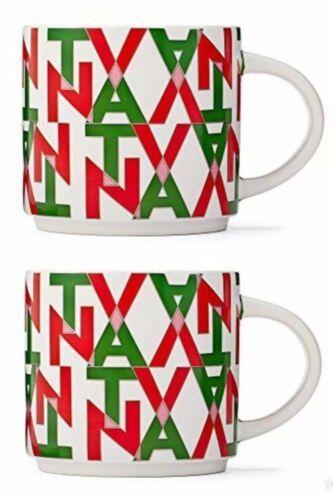 Set Of 2~Starbucks Teavana Red Green  Multi-Color Stacking Mug 12 oz Tea Cup NEW - $24.65