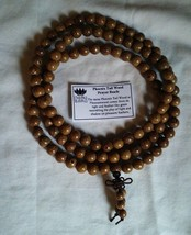 Prayer Beads Stretchy Phoenix Tail Wood 108 Bead Buddhist Mala - 8mm  #42234
