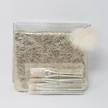 New MAC Snow Ball Advanced 5pcs Face And Eye Brush Kit With Zip Pouch - $26.55