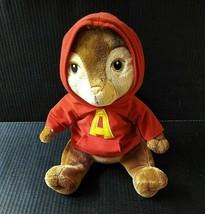 "Build A Bear BABW Plush Alvin Chipmunk 12"" Stuffed Animal Red Hoodie - $18.61"