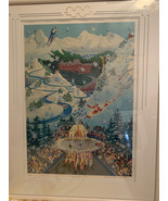 Melanie Taylor Kent Lithograph, Let the Winter Games Begin, Signed and F... - $250.00