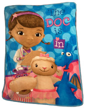 """Disney Doc McStuffins Soft Kids Blue Throw Blanket """"The Doc Is In"""" Used - $23.75"""