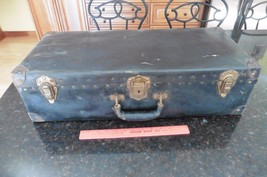 Vintage Carrying Case tool box ? suitcase with lock Tanks ? work tools ?... - $56.10