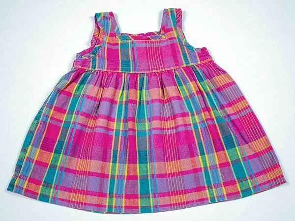 Primary image for HANNA ANDERSSON VTG BABY GIRLS PINK PLAID DRESS SIZE 70 CM US 6-12 MONTHS 6 9 12