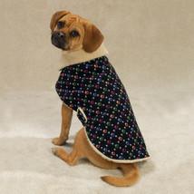 Paw Print Corduroy Berber Lined Warm Dog Coat Jacket Casual Canine XS M - $7.95