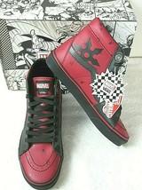 Vans x Marvel Womens Sk8-Hi Deadpool Leather shoes Black Red Size 7.5 Ne... - $112.69