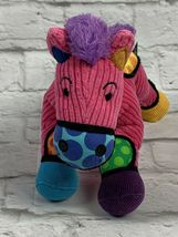 "BRITTO POPPLUSH Pink Corduroy POP ART Frida the HORSE Plush Stuffed Animal 11"" image 3"