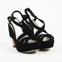 Miu Miu Black Suede Strappy Platform Sandals SZ 41 - $100.00