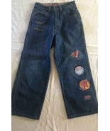 Platinum Fubu Harlem Globe Globetroters Jeans Size 10 - $8.90