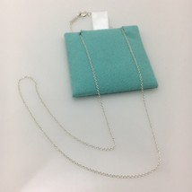 "Tiffany & Co 16"" Sterling Silver Chain Necklace NEW - $49.99"