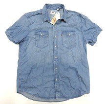 NEW WITH TAGS LEVI'S Pearl Snap Up Short Sleeve Shirt Adult Men's Size X... - $59.35