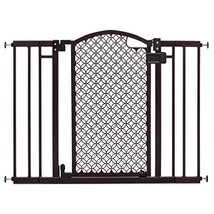 Summer Modern Home Decorative Walk Thru Baby Gate, 28-42 Inch Wide Press... - $62.70